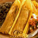 Buy your order of chicken tamales here