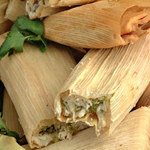 Two chicken Tamales